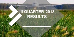 III quarter 2018 results